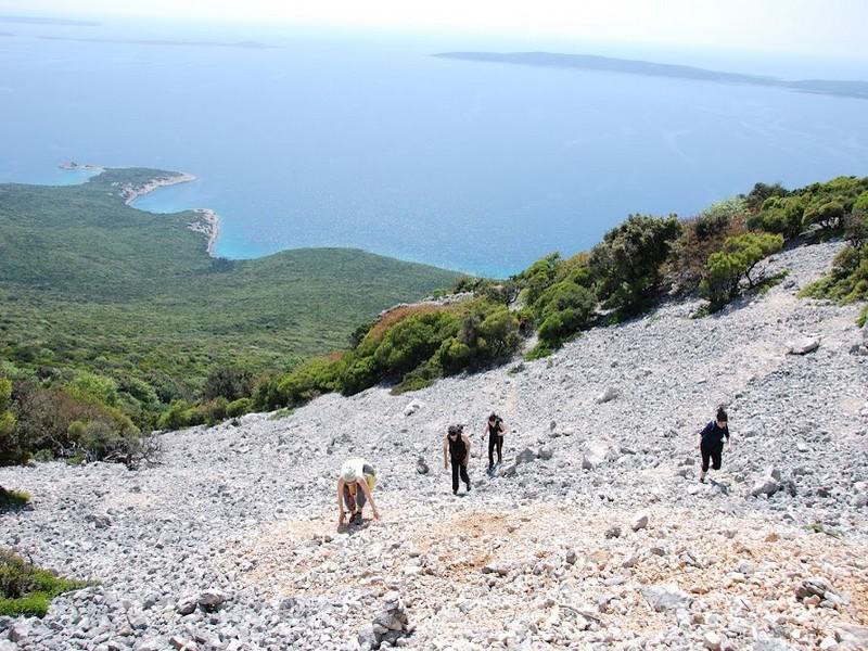 Wandern auf der Insel der Delphine-Osorčica